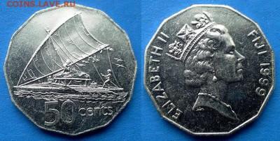 Фиджи - 50 центов 1999 года (12-угольник) до 12.03 - Фиджи 50 центов 1999