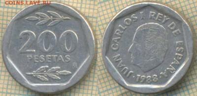 Испания 200 песет 1988 г., до 12.03.2019 г. 22.00 по Москве - Испания 200 песет 1988 5500