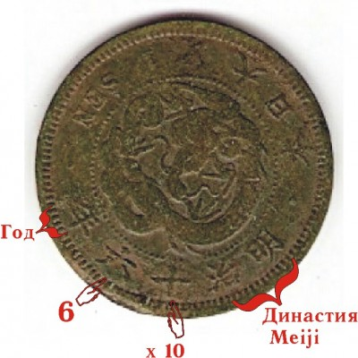 помогите опознать  азиатскую  монету ( Япония вроде) - сена