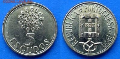 Португалия - 5 эскудо 1999 года до 28.03 - Португалия 5 эскудо 1999
