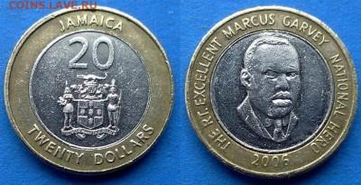 Ямайка - 20 долларов 2006 года (БИМ) до 28.03 - Ямайка 20 долларов 2006 бим