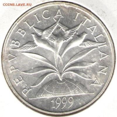 Христианство на монетах и жетонах - 5000 лир аверс