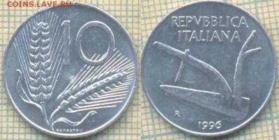 Италия 10 лир 1996 г., до 02.04.2019 г. 22.00 по Москве - Италия 10 лир 1996 1668
