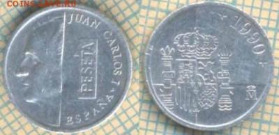 Испания 1 песета 1990 г., до 01.04.2019 г. 22.00 по Москве - Испания 1 песета 1990  5853