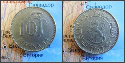 Финляндия 10 марок, 1953 - 2