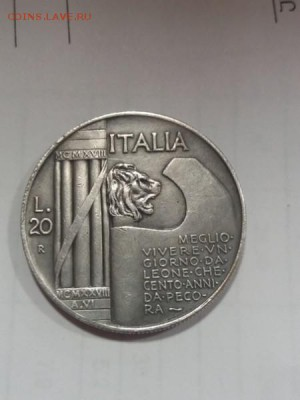 20 лир 1928 Италия подскажите по подлинности - NvPb6VEkAHM