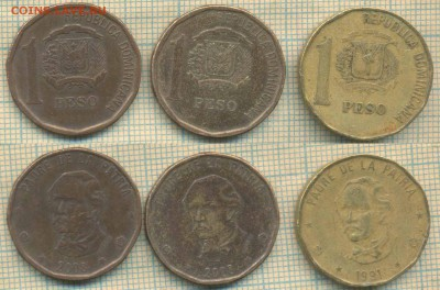 Доминикана 1 песо 1991,2008 гг., фикс - Доминикана 1 песо 1991 08