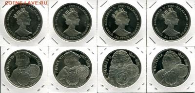 Фолкленды набор 1Кр 4шт 2001 Монархи КРАСИВЫЕ до 08.04.19 - Falkland 50p 2001 K&Q