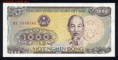 Вьетнам 1000 донг 1988 unc 11.04.19. 22:00 мск - 2