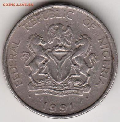 Нигерия 1 найра 1991 г. до 24.00 15.04.19 г - 001
