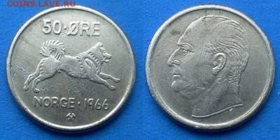 "Норвегия - 50 эре 1966 года (""Собака"") до 16.04 - Норвегия 50 эре 1966"