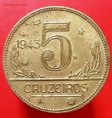 5 крузейро Бразилия 1943 - IMG_20190422_160949