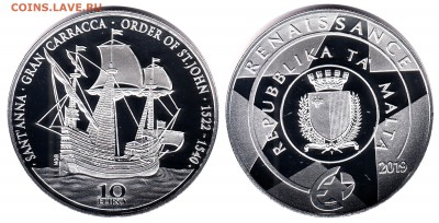 Монеты с Корабликами - мальта 10.2019.JPG