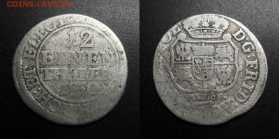 12 талера (1750 FWoF) до 29 - Германия (Саксония-Альбертина) – 1-12 талера (1750 FWoF) (биллон)