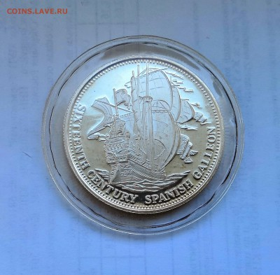 1 унция серебро 999. Испанский галлеон 16-го века. Proof. - IMG_20190413_110513