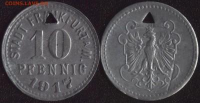 Нотгельды Германии по фиксированной цене - Франкфурт 10 пфеннигов 1917 (продажа) 2