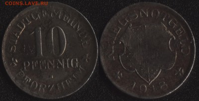 Нотгельды Германии по фиксированной цене - Пфорцхайм 10 пфеннигов 1918 (продажа)