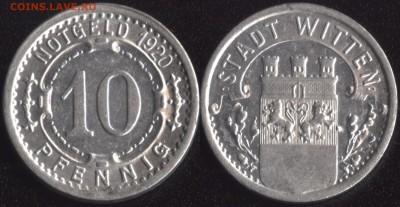 Нотгельды Германии по фиксированной цене - Виттен 10 пфеннигов 1920 (продажа)