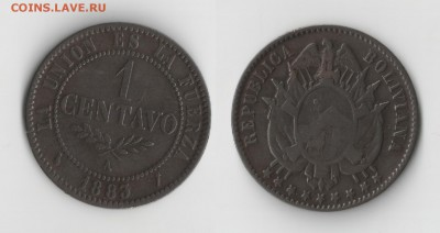 Боливия. - 1сент1883