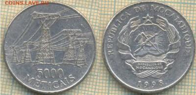 Мозамбик 5000 метикалов 1998 г., до 28.05.2019 г. 22.00 по М - Мозамбик 5000 метикалов 1998 6003