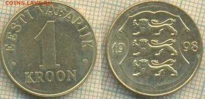 Эстония 1 крона 1998 г., до 30.05.2019 г. 22.00 по Москве - Эстония 1 крона 1998  6077
