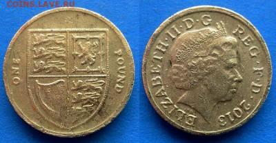 Великобритания - 1 фунт 2013 года до 30.05 - Великобритания 1 фунт 2013