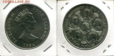 О.Кука 1$ 1986 60QEII до 06.06.19 22-00 мск - Cook 1$ 1986 60QEII