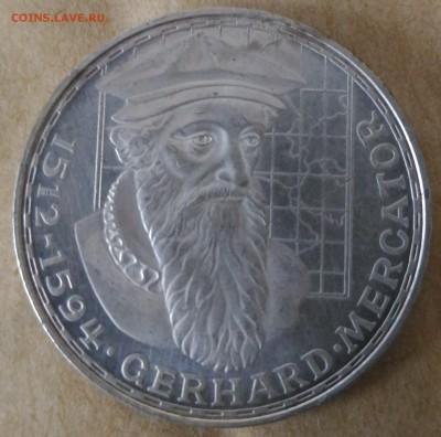 фРГ 5 марок Меркатор 1969 с рубля - Германия 5 марок Меркатор 1969 реверс