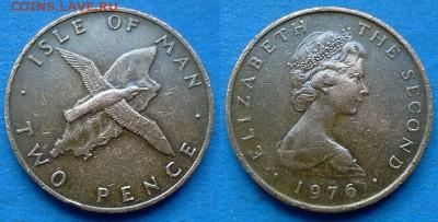 Остров Мэн - 2 пенса 1976 года (Фауна) до 15.06 - Остров Мэн 2 пенса 1976