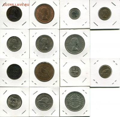 Н.Зеландия подборка 1956-1965 до 13.06.19 22-00 мск - N.Zealand 1956-1965 dif.