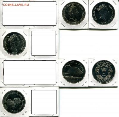 Н.Зеландия 1$ разные по ФИКСу до 13.06.19 22-00 мск - NZ 1$ 1970-90 dif4