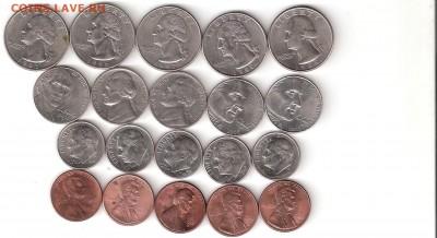 США 20 монет: Квотеры,Даймы,Никель,Центы - США-20монет Р