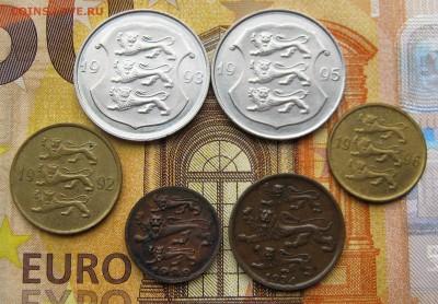 ЭСТОНИЯ 1,2,10,20 сентов 1929-34-92-96.+ 1 крона 1993-95. - 026.JPG