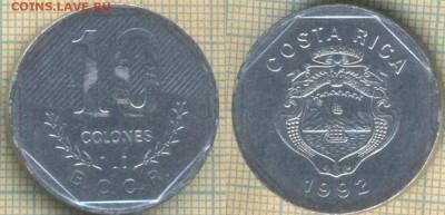Коста-Рика 10 колонов 1992 г, до 01.07.2019 г. 22.00 по Моск - Коста Рика 10 колонов 1992  6423