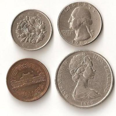 Помогите определить  стоимость и название  иностранных монет - Помогите определить стоимость и название иностранных монет. 001