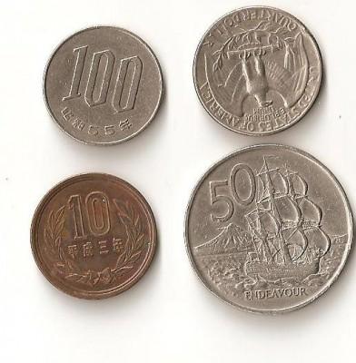 Помогите определить  стоимость и название  иностранных монет - Помогите определить стоимость и название иностранных монет.