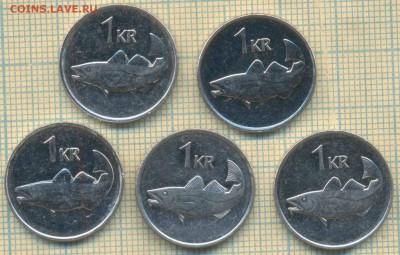 Исландия 1 крона 1981-2011 г., фикс - Исландия 1 крона фикс с1