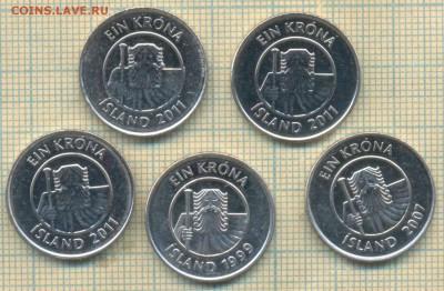 Исландия 1 крона 1981-2011 г., фикс - Исландия 1 крона фикс с