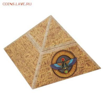 Кошки на монетах - 2 $ 19 Golden Treasures of Ancient Egypt - 2oz Silver Antique Finish Box - 5