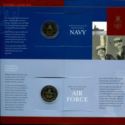 Австралия НЕЧАСТЫЙ набор 1$ 3шт Силы обороны до 10.07.19 - Aus.2001 set-r1