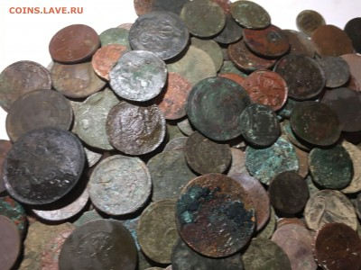 солянка медных нечищеных монет 250шт - IMG_1667