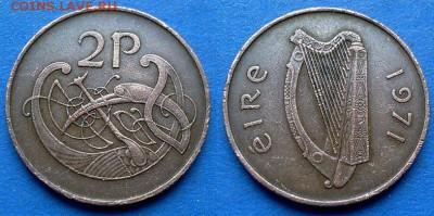 Ирландия - 2 пенса 1971 года до 23.07 - Ирландия 2 пенса 1971