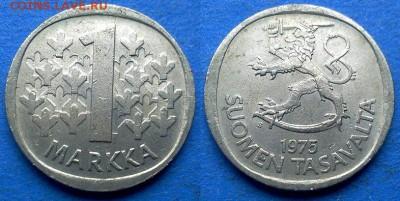 Финляндия - 1 марка 1975 года до 23.07 - Финляндия 1 марка 1975