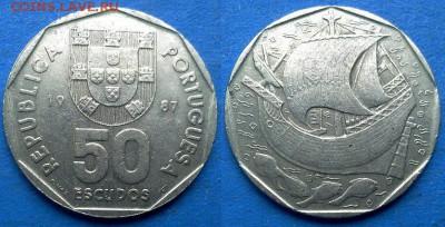 Португалия - 50 эскудо 1987 года до 23.07 - Португалия 50 эскудо 1987