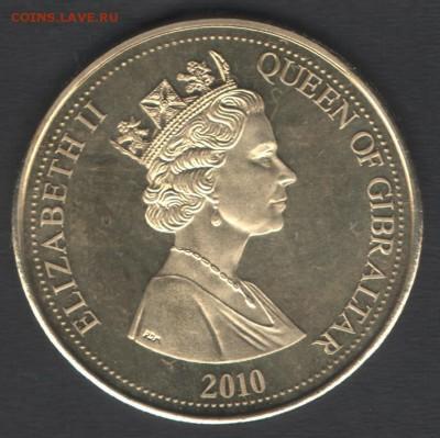 Гибралтар 5 фунтов 2010 до 29.07.2019 21.00 мск - Гибралтар 5фунтов10 а