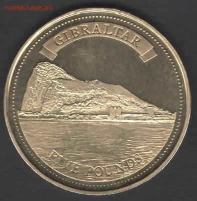 Гибралтар 5 фунтов 2010 до 29.07.2019 21.00 мск - Гибралтар 5фунтов10 р