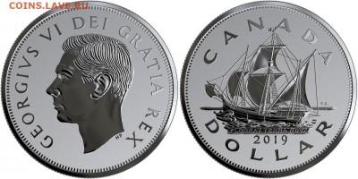 Монеты с Корабликами - 1 $ 19 Heritage of the Royal Canadian Mint - The Matthew - Silver Unc Box - 2