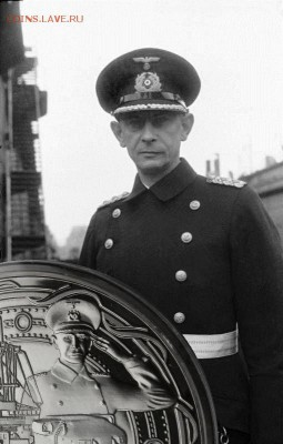 Монеты с Корабликами - Schlachtschiff_Bismarck,_Kapitän_Ernst_Lindemann