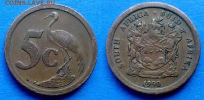ЮАР - 5 центов 1990 года до 14.08 - ЮАР 5 центов 1990