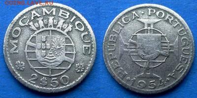 Мозамбик - 2.5 эскудо 1954 года до 14.08 - Мозамбик 2.5 эскудо 1954
